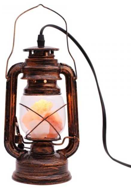 Air Purifier Salt Lamp Lantern Light Himalayan Table Lamp - Industrial - Table Lamps - by ...