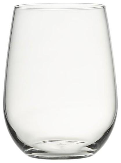 stemless red wine glass modern wine glasses
