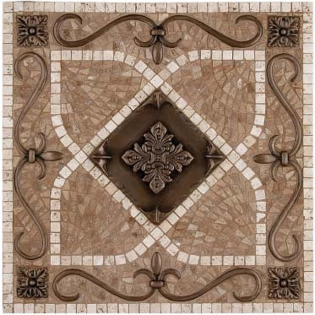 Landmark Metalcoat Renaissance Mosaic Medallion 18 X 18