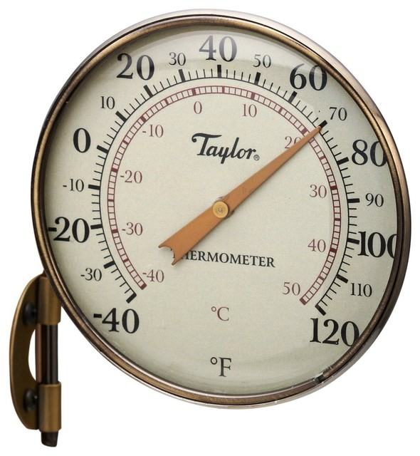 taylor 481bz metal dial thermometer traditional decorative thermometers by life and. Black Bedroom Furniture Sets. Home Design Ideas