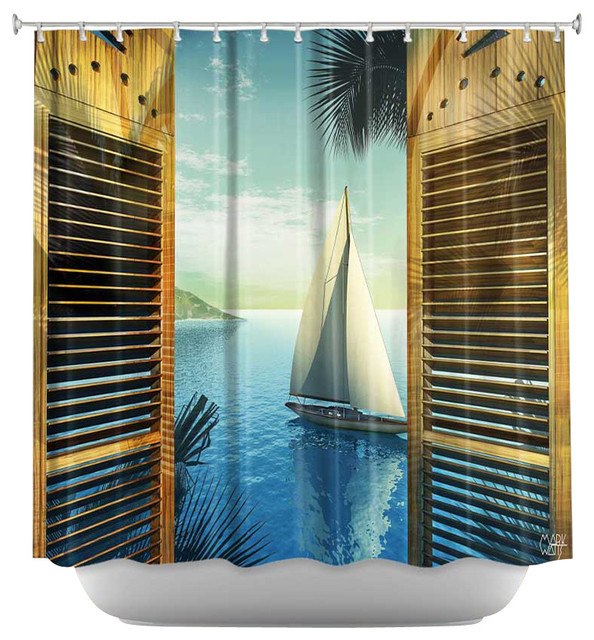 Shower Curtain Unique From Dianoche Designs Set Sail