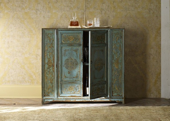 Hand-Painted Cabinet - Asian - Buffets And Sideboards - new york - by Zin Home