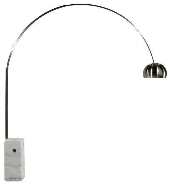 Arco Style Floor Lamp White Marble Base Modern Floor Lamps
