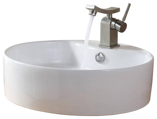 Kraus Sinks Uk : Kraus Sink Unicus Basin Faucet Brushed Nickel modern-bathroom-sinks