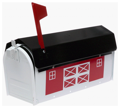 Red Barn Metal Mailbox Modern Mailboxes By