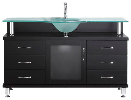 Vincente 55 Single Bathroom Vanity Cabinet In Espresso Modern Bathroom Vanities And Sink Consoles