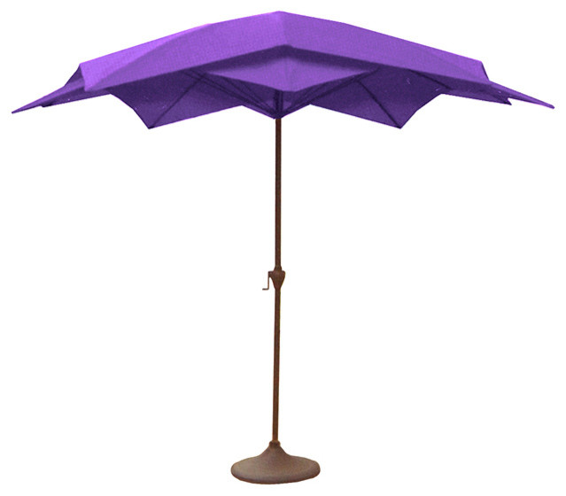 Outdoor Patio Lotus Umbrella With Hand Crank Purple 8 2