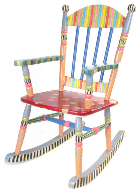Wee rocking chair mackenzie childs eclectic kids