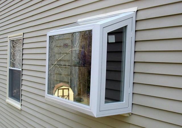 Vinyl garden window windows baltimore by thompson for Vinyl garden window