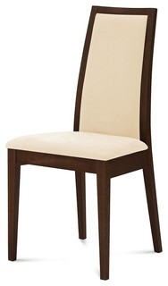 Topic Chair Wenge Finish Black Fabric Set Of 2 Contemporary Dining