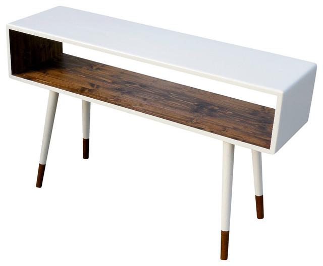 Midcentury Sofa Table Dipped Poplar Wood By Orwa Designs
