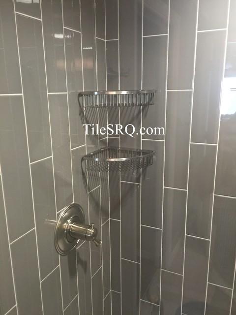 4X16 Ceramic Tile Installed In A Vertical Running Bond