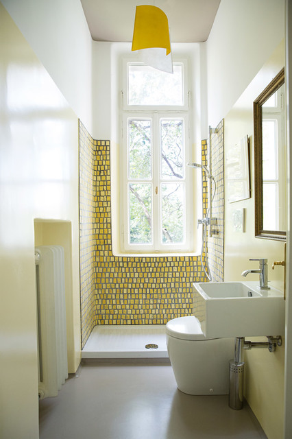 Il bagno giallo in mosaico - Contemporary - Bathroom ...