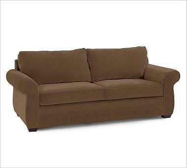Pearce upholstered sleeper sofa down blend wrap cushions for Wrap around sofa bed
