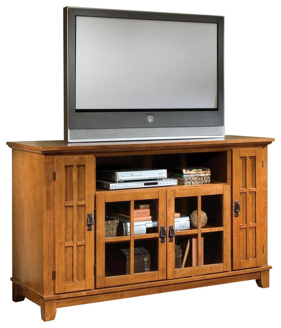 TV Credenza in Cottage Oak Finish - Contemporary - Entertainment Centers And Tv Stands - by ...