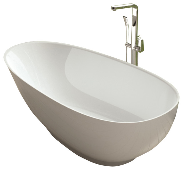 Adm white stand alone solid surface stone resin bathtub for A and s salon supplies keighley