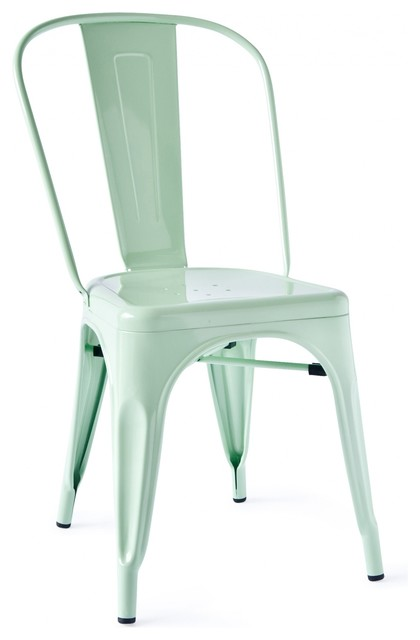 Marais A Side Chair Peppermint Industrial Dining Chairs By Industry West