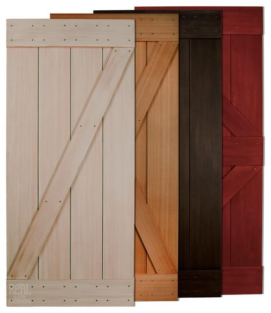 Western red cedar barn door rustic interior doors by for Rustic interior barn doors