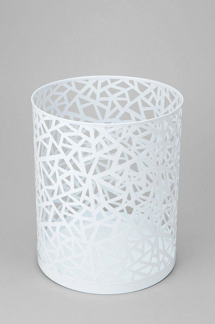 Geo cutout trash can urban outfitters - Modern wastebasket ...