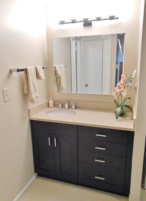master bath with bedroom vanity contemporary dc metro
