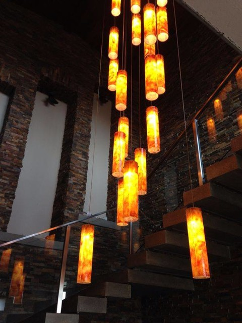 Contemporary custom chandelier for two story foyer miami for 2 story foyer chandelier