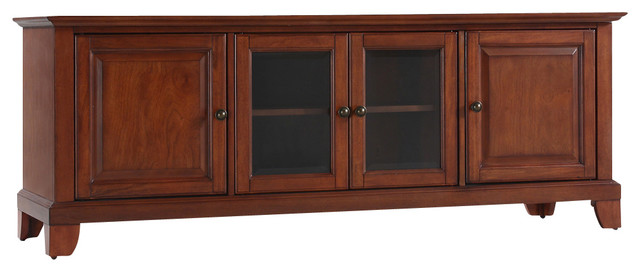 """Newport 60"""" Low Profile TV Stand in Classic Cherry Finish traditional ..."""
