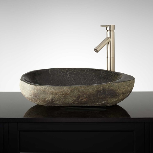 Joplin River Stone Vessel Sink Modern Bathroom Sinks By Signature Hardware