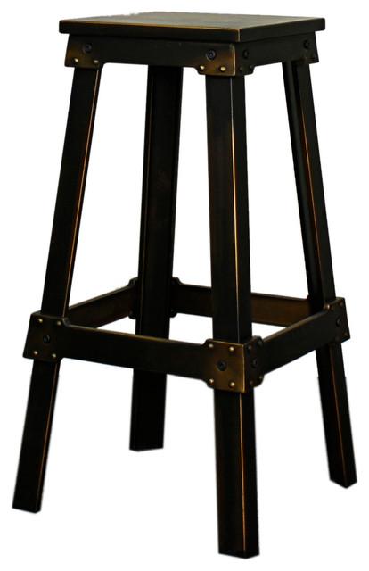 Reza Metal Bar Stool Distressed Cooper Traditional  : traditional bar stools and counter stools from houzz.com size 414 x 640 jpeg 42kB