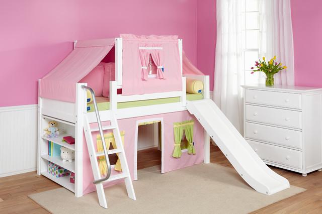 Girls slide beds contemporary kids beds dc metro - Loft beds for kids canada ...