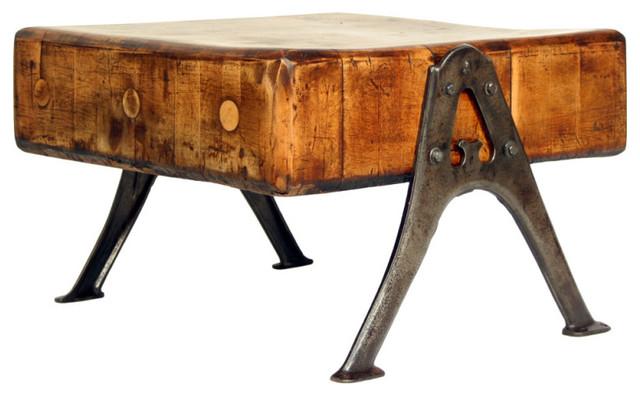 Vintage Industrial Solid Maple Butcher Block Table