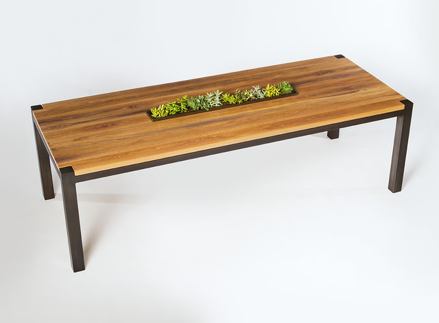 Hoffmann dining table reclaimed wine tank white oak for Reclaimed wood furniture san francisco