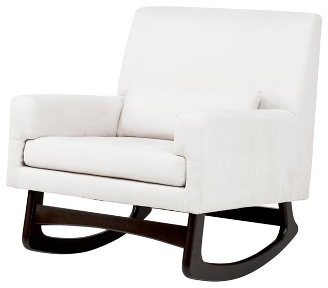 ... Sleepytime Rocker in Ecru with Dark Legs transitional-rocking-chairs
