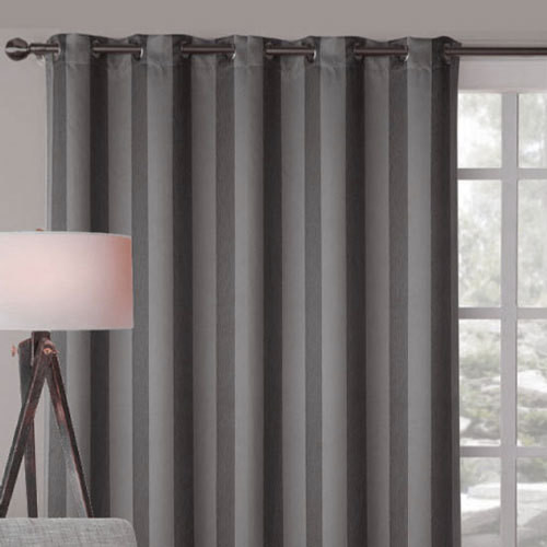 Alberta extra wide blockout eyelet curtain panel charcoal Contemporary drapes window treatments