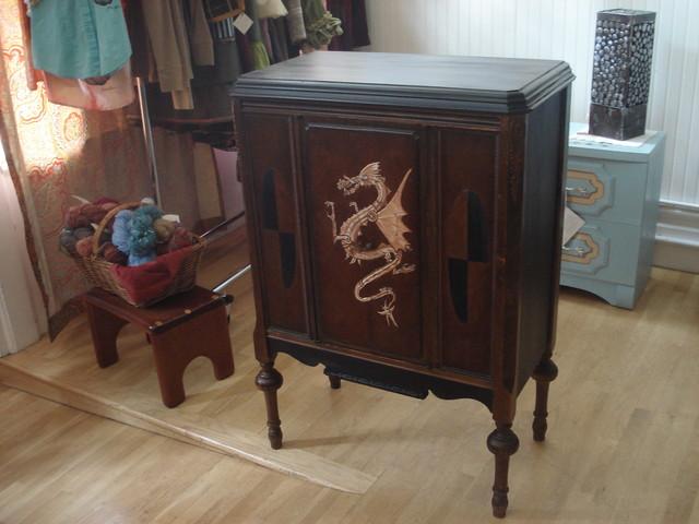 Art Furniture commission: Steampunk Liquor Cabinet