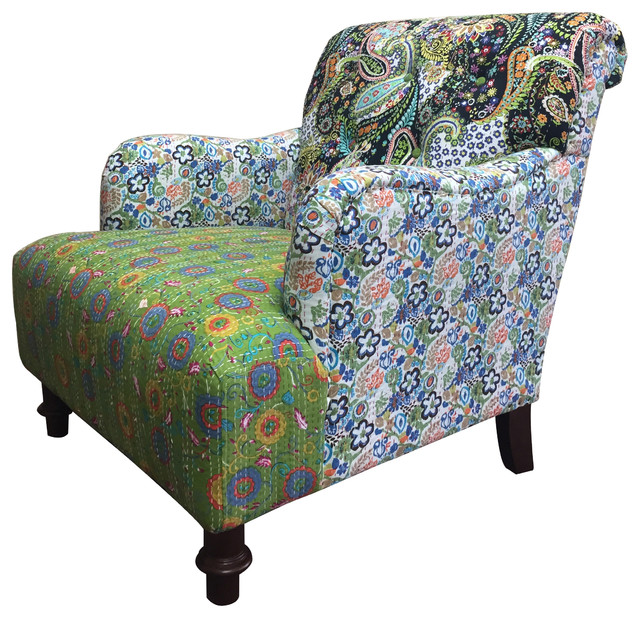 Jazztine Colorful Arm Chair Eclectic Armchairs And