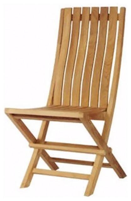 Anderson Teak Patio Lawn Garden Furniture Comfort Folding Chair Contemporary Outdoor Folding