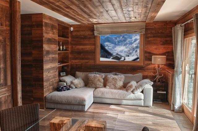 chalet moderno in montagna soggiorno completo altro