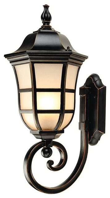 Industrial Style Outdoor Wall Lights : Vintage Industrial Style Meteor Shape Wall Sconce - Traditional - Outdoor Wall Lights And Sconces