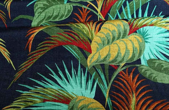Havana Fabric In Cobalt Tropical Fabric Los Angeles