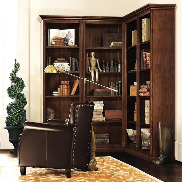 Ballard designs tuscan corner bookcase set 4 piece contemporary bookcases - Ballard design home office ...