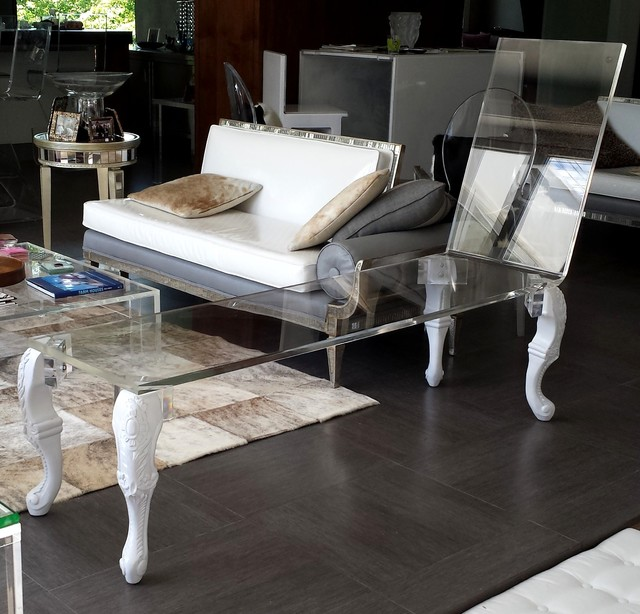 Chaise lounge modern furniture new york by custom for Ava nailhead chaise