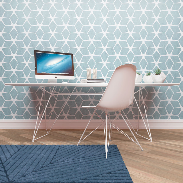 Wall Painting Stencil Geometric Pattern Scandinavian