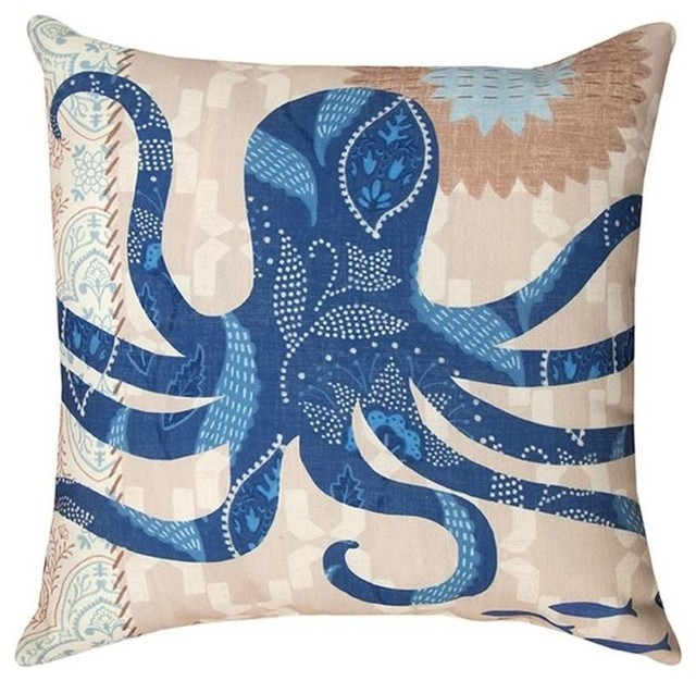 Beach Style Outdoor Cushions : Octopus Pillow - Beach Style - Outdoor Cushions And Pillows - by Wildlife Wonders