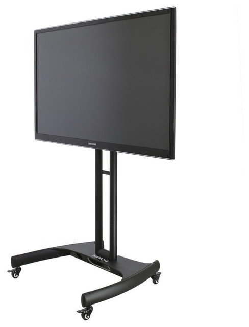 Mobile Adjustable Height TV Stand For Flat Screen TVs 32