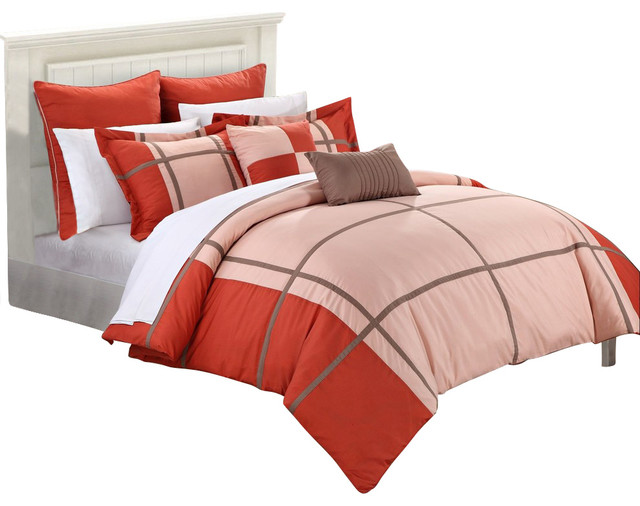 7 piece micro suede patchwork bed in a bag comforter set kit