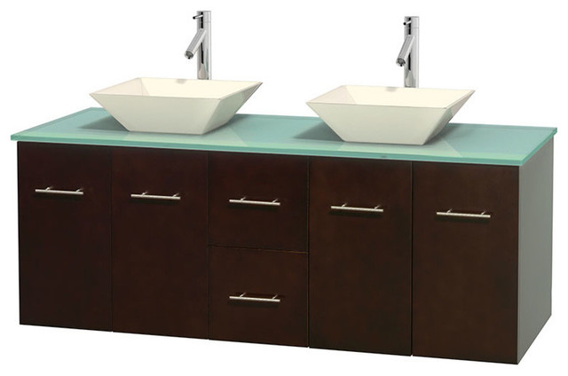 ... Green Glass Countertop, Sinks contemporary-bathroom-vanities-and-sink