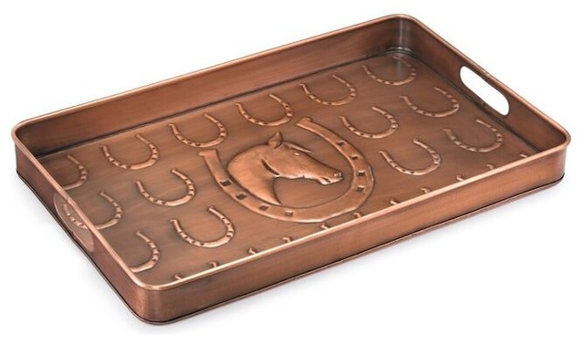 Copper Boot Tray Horse Shoe Modern Closet Storage