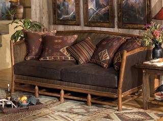 Hill Country Sofa Rustic Sofas Indianapolis By Old Hickory Furniture Company