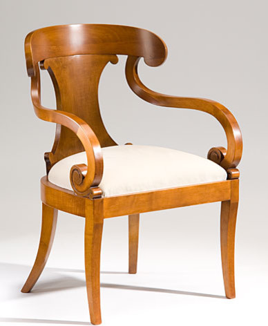 Biedermeier Style Carved Maple Armchair - Armchairs And Accent Chairs - Miami - by ...