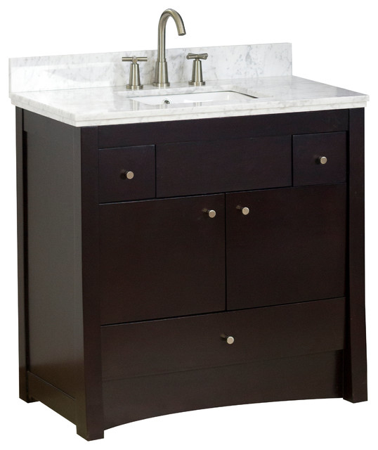 Transitional birch vanity base only in antique walnut 35 x17 5 transitional bathroom - Bathroom vanity cabinet base only ...